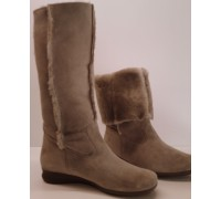 Mephisto FLORIDA taupe suede boots warm lined with real wool
