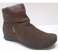 Mephisto FIDUCIA brown leather nubuck ankle boot for women