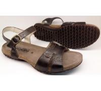 Mephisto BYLBA dark brown leather sandal for women