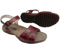 Mephisto BYLBA red leather women sandal