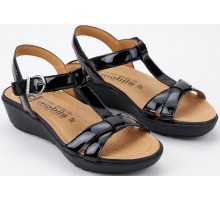 Mobils by Mephisto FELIZIA black leather     WIDE FIT SANDALS
