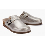 Mephisto HALINA patent leather women sandal silver