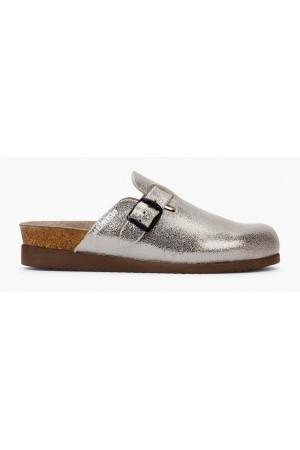 Mephisto HALINA patent leather women sandal silver