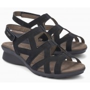 Mephisto PAMELA soft nubuck sandal for women black