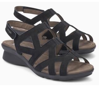 Mephisto PAMELA soft nubuck sandal for women black