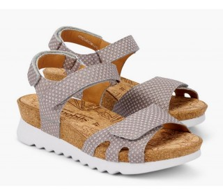 Mobils by Mephisto QUIRINA leather women sandal light taupe   WIDE FIT