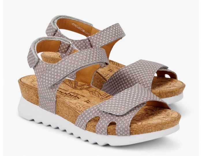 1a4db040f1 Mobils by Mephisto QUIRINA leather women sandal light taupe WIDE FIT