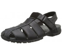 Mephisto BASILE black leather sandals for men