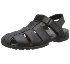 Mephisto BASILE black leather sandals for men