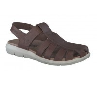 Mephisto CESAR leather sandals for men dark brown