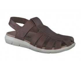 Mephisto CESAR leather sandals for men dark brown