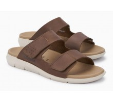 Mephisto CLAYTON leather sandal for men dark brown