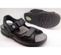 Mephisto ATLAS FIT black leather sandal for men