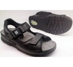Mephisto ATLAS FIT black leather sandal for men