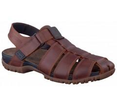 Mephisto BASILE chestnut brown leather sandals for men