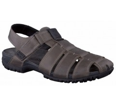 Mephisto BASILE pewter grey leather sandals for men