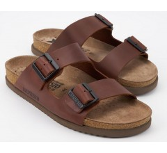 Mephisto NERIO dark brown leather slipper for men