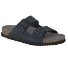 Mephisto NERIO navy blue nubuck slipper for men