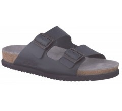 Mephisto NERIO black leather slippers for men