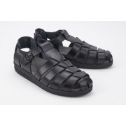Mephisto SAM MAMOUTH black leather sandal for men
