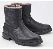 Mephisto LEONARDO black leather boots for men    WOOL LINED