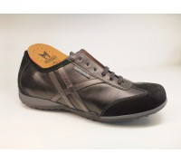 Mephisto ADELMO black leather and suede mens sneaker