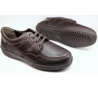 Mephisto EVELIO - men's leather lace up shoe - dark brown