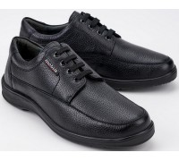Mobils by Mephisto EZARD black leather lace-up shoe for wide fit