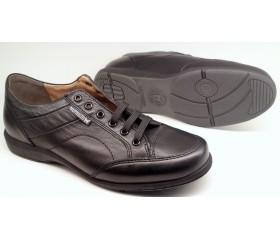 Mephisto BORAN black leather men's sneakers