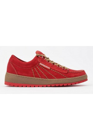 Mephisto RAINBOW VELOURS orange red laceshoe men