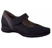 Mephisto JOYCE bucksoft black nubuck pumps for women with velcro