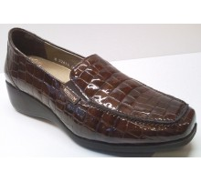 Mephisto CELKA hazelnut croco patent brown leather