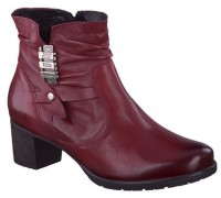 Mobils by Mephisto DELORA oxblood red ankle boot for ladies with WIDE FEET