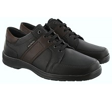 Mobils by Mephisto EDWARD black leather lacashoe for WIDE feet