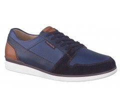 Mobils by Mephisto BARNEY navy blue leather suede   EXTRA WIDE