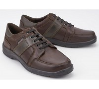 Mobils by Mephisto EDWARD dark brown leather laceshoe for wide feet