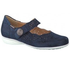 Mobils by Mephisto FABIENNE SILENCIO navy blue leather wide fit women shoes