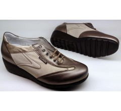 Mobils by Mephisto GLENDA bronze grey leather        WIDE FIT