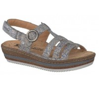Mobils by Mephisto LIZANNE sky blue leather sandal for wide feet
