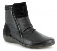 Mobils by Mephisto MAUD black leather and suede    WIDE FIT