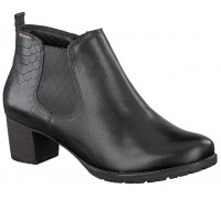 Mobils by Mephisto DONATA black lelather WIDE FIT ankle boot for women